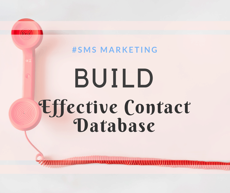 build contacts database for bulk sms